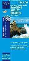 Top25 1344OT - Bayonne, Anglet, Biarritz carte de randonnée avec une règlegraduée gratuite (Top 25)