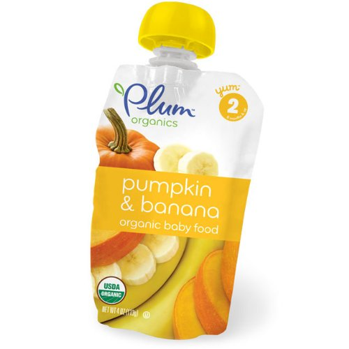 Plum Organics Second Blends Pumpkin & Banana (6x4oz)
