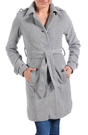 Light Grey Collared Button Down Soft Plus Size Trench Coat (3XL)