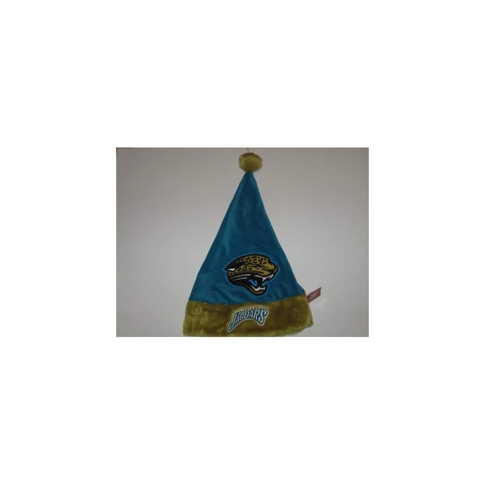 44cdf2ec59a47 JACKSONVILLE JAGUARS 19 Plush Christmas SANTA HAT with Team Logo   Team  Colors