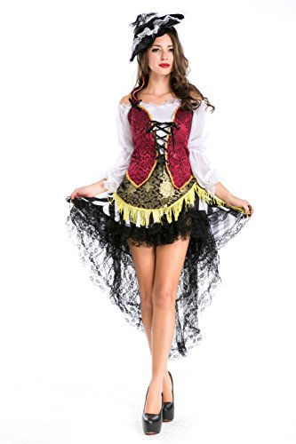Generic Women's Alice In Wonderland Costume Adult Halloween Fancy Dress