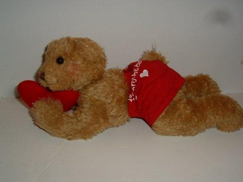 1 X Hallmark Bobby Boxer Valentine Plush Bear