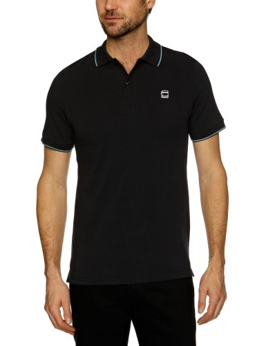 G-Star Raw RCT Stripe Slim Polo T Shortsleeve Men's T-Shirt Black Large - 21.131.84950A.2422.990.0.L