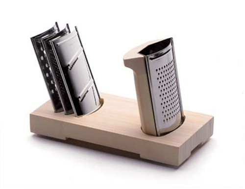 Legnoart Domino Passionate'S Grater Set, 4 Blades, Designed By Bjorn Blisse
