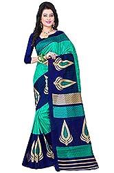 Shree Vaishnavi Woven Bollywood Bhagalpuri raw silk Sari(Maahi)