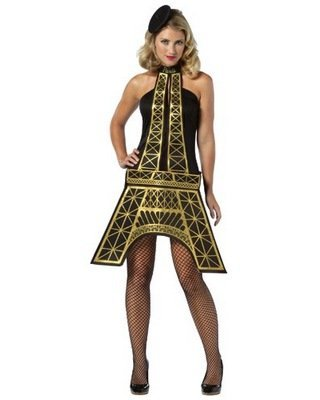 Ladies Eiffel Tower Costume Dress