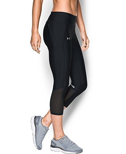 Under Armour Women's Fly-By Capri, Black (002), Small