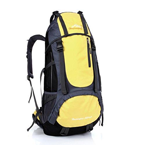 Grande capacité alpinisme sacs / extérieur sac à bandoulière / sac de sport / Voyage à dos-jaune 60L