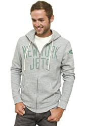NFL Men's Full Zip Vintage Hoodie, Grey