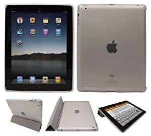 LuvTab CLEAR Back Cover / Case / Skin / Protector for Apple iPad 2, 3 & 4 (2nd, 3rd & 4th Generation & 3rd Generation - iPad with Retina / HD Display) - Works With Original Apple iPad Smart Cover - Fits All Wi-Fi, Wi-Fi plus 3G 4G 16GB 32GB 64GB Models