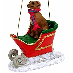 Click to buy Christmas decorations   : Italian Greyhound in a sleigh.from Amazon!