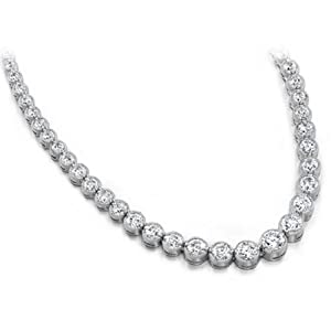 10.00 ctw Diamond Necklace 14k Gold H SI-2