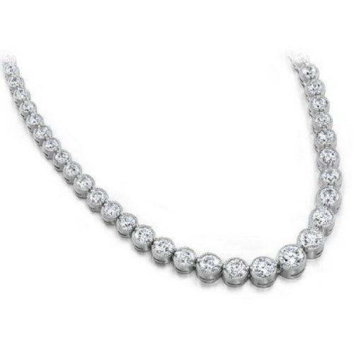 10.00 ctw Diamond Necklace 14k Gold H SI2 Picture
