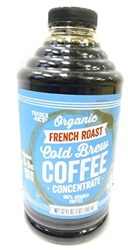 Trader Joe's Organic French Roast Cold Brew Coffee Concentrate - 32 Oz Plastic Bottle