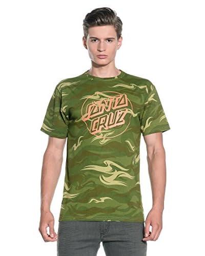 Santa Cruz T-Shirt Manica Corta Camo Dot S/S Custom [Verde]