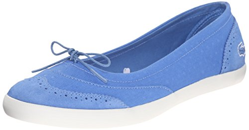 Lacoste Women's Loxia 216 1 Boat Shoe, Blue, 7.5 M US