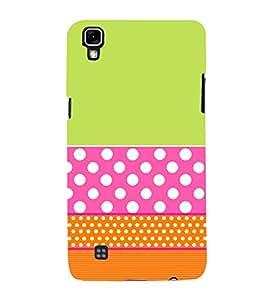 Green Pink Orange Pattern 3D Hard Polycarbonate Designer Back Case Cover for LG X Power
