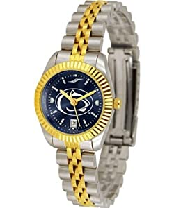Penn State University Ladies Gold Dress Watch by SunTime