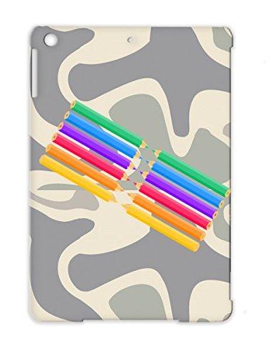 Tpu Orange For Ipad Air Rainbow Pencils Orange Pink Gree Purple Cute Pencil Yellow Blue Child Crayon Case front-395661