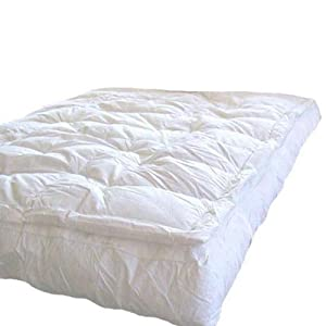 feather top mattress cover amazon com marrikas pillow top down feather bed