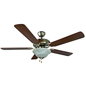 Yosemite Home Decor Calder Sn 1 52 Inch Ceiling Fan With Light Kit And Walnut Wengue Blades