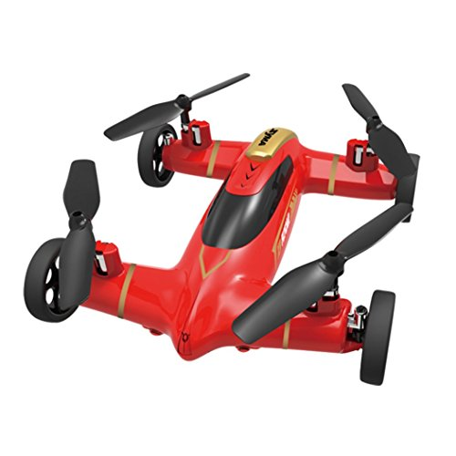Perman X9 2.4G Speed Switch With 3D Flips Flying Car RC Quadcopter Drone Sky and Land High-Speed Racing Car 4CH 6 Axis Gyro UFO Red