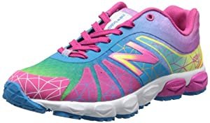 New Balance KJ890 Pre Lace-Up Running Shoe (Little Kid),Rainbow,2.5 M US Little Kid