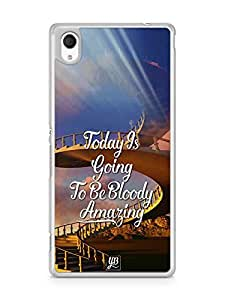 YuBingo Today's going to be bloody amazing Designer Mobile Case Back Cover for Sony Xperia M4