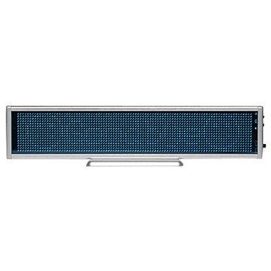 76Mw Blue Plastic Led Mini Board / Led Name Card With Multi Modes Battery Powered
