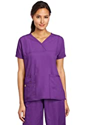WonderWink Women's Scrubs Four Way Stretch Y-Neck Top