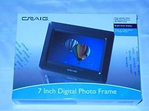Craig 7 Inch Digital Photo Frame (Black)
