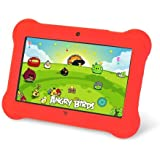 "Orbo Jr. 4GB Android 4.4 Wi-Fi Tablet PC w/Beautiful 7"" Five-Point Multitouch Display - Special Kids Edition - Red"