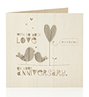 Wooden Birds Your Anniversary Card