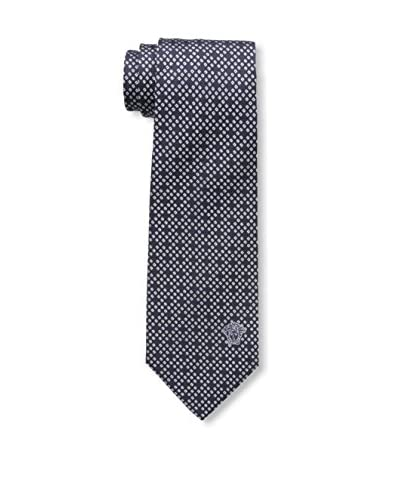 Versace Men's Geometric Print Tie, Blue/Grey