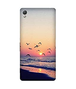 Birds And Sunset Sony Xperia Z3 Case