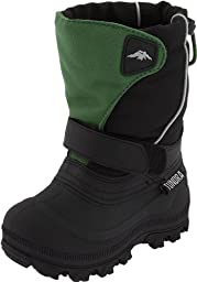 Tundra Quebec Wide Boot,Green/Black,12 W US Little Kid