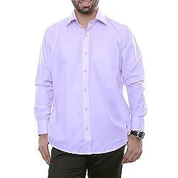 VinaraTrends Purple Color Poly Cotton Shirt For Men