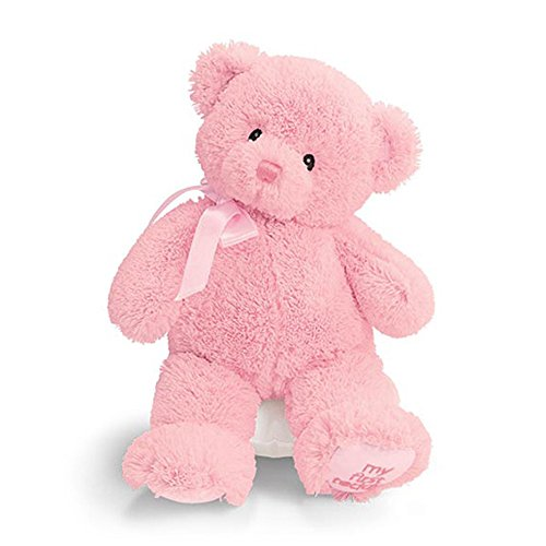 "Gund My1St Teddy Pink 10"" Plush front-781038"