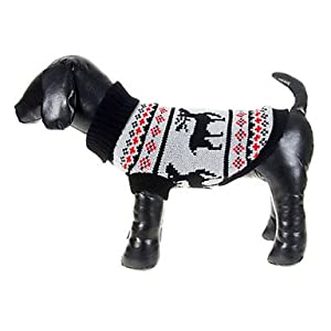 Christmas Style Deers Pattern Sweater for Pets Dogs (Assorted Sizes) by shoppingeasyonline