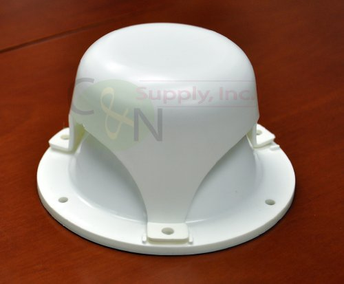 NU-SET RV032-33 White Roof Vent Cap for RV (Rv Plumbing Vent Cap compare prices)