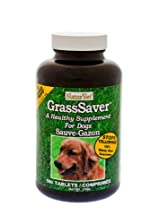 NaturVet GrassSaver Dog Supplement to Get Rid of Yellow Lawn Spots 500 Tablets