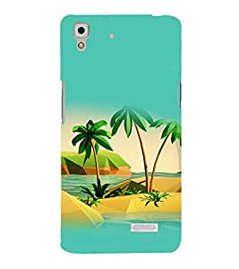 printtech Nature Palm Beach Back Case Cover for Sony Xperia T2 Ultra Dual