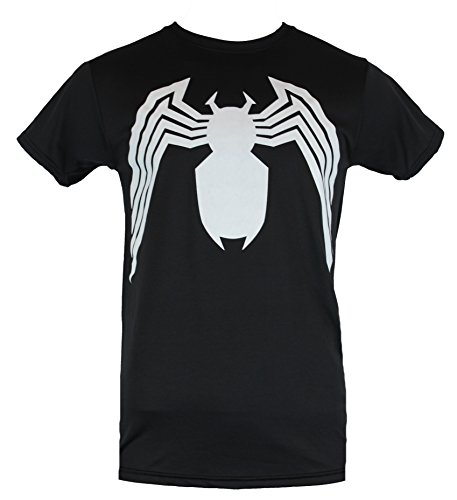 Spider-man Moisture Wicking Mens T-Shirt - Classic White Spider Costume Front