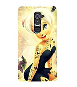 Vizagbeats Animated Girl Back Case Cover for LG G2::LG G2 D800 D980