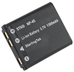 STK's Fuji NP-45A Battery - High mAh for Fujifilm FinePix XP50, XP20, Z90, JX500, JX520, JZ250, Z900EXR, XP60, Z20fd, T400, Z70, J10, XP10, XP30, T350, Z10fd, Z30, J38, JX580, JZ100, T200, Z33wp, Z1000EXR, J20, JZ300, Z37, JV100, JX250, JX400, T300, T550