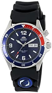 Orient Men's CEM65003D Blue and Red Bezel Automatic Rubber Strap Dive Watch