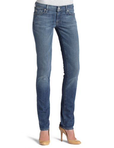 7 For All Mankind Womens Roxanne Skinny Jean with Split Squiggle
