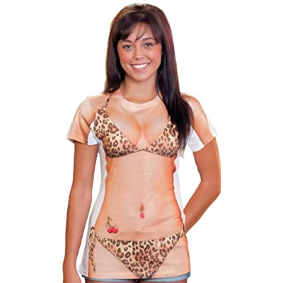 PhotoRealistic Leopard Bikini T-Shirt