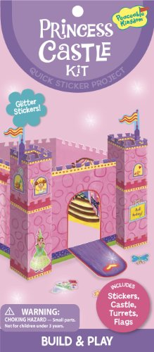 Peaceable Kingdom / Princess Castle Quick Sticker Kit front-631047
