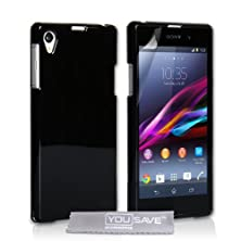 buy Yousave Sony Xperia Z1 Case Black Pu Leather Flip Cover